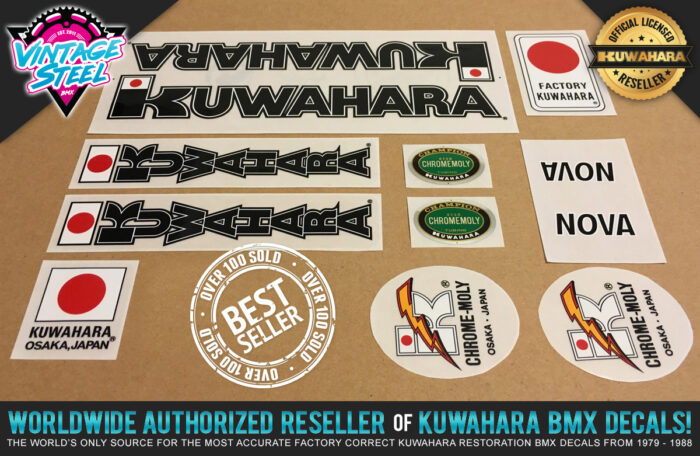 Factory Correct 1983-1984 Kuwahara Nova BMX Decal Stickers