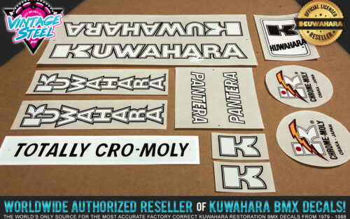 Factory Correct 1983-1984 Kuwahara Pantera BMX Decal Stickers