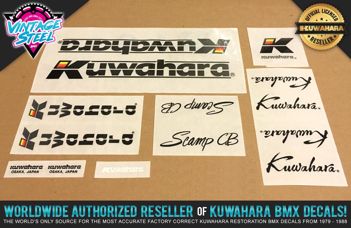 Factory Correct 1985-1986 Kuwahara Scamp CB BMX Decal Stickers