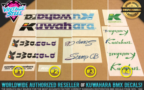 Factory Correct 1985-1986 Kuwahara Scamp CB BMX Decal Stickers