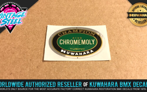 Factory Correct Kuwahara Champion 4130 Chromemoly BMX Decal Stickers