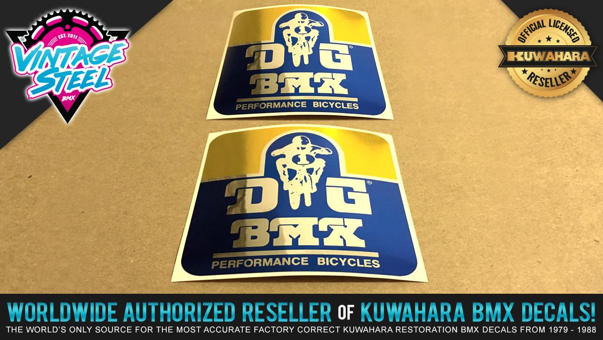 Factory Correct DG BMX Decal Stickers