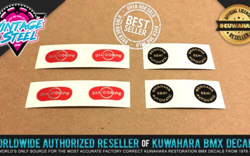 Factory Correct Dia Compe & Weinmann Adjuster BMX Decal Stickers