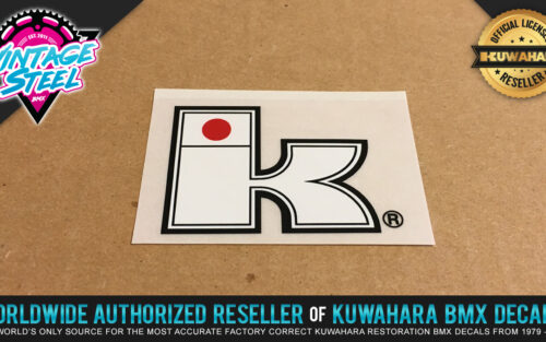 Factory Correct Kuwahara Exhibitionist Big K BMX Decal Stickers