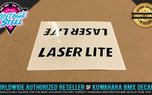 Factory Correct Kuwahara Laserlite Top Tube BMX Decal Stickers