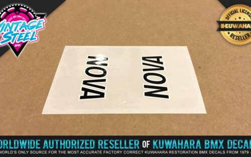 Factory Correct Kuwahara Nova Top Tube BMX Decal Stickers