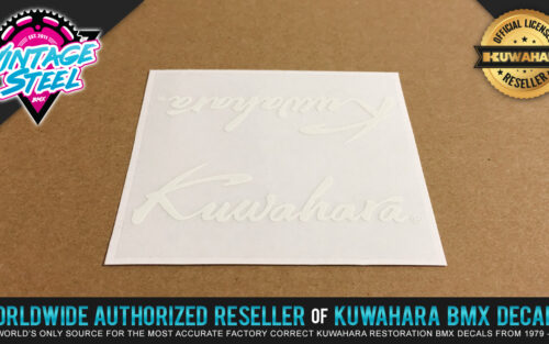 Factory Correct Kuwahara Script BMX Handlebar & Seat Post Decal Stickers