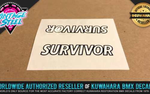 Factory Correct Kuwahara Survivor Top Tube BMX Decal Stickers