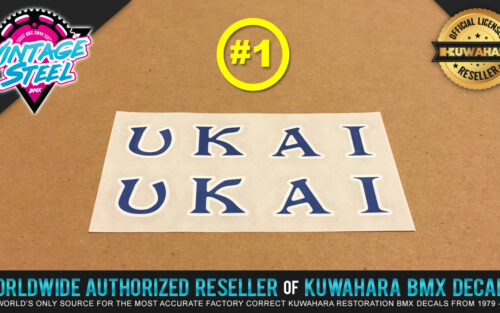 Factory Correct Ukai Rim Wheel BMX Decal Stickers