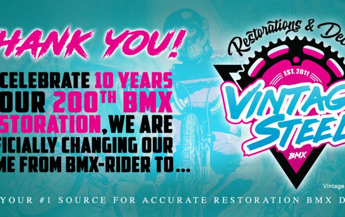 10 Year Anniversary of Vintage Steel BMX
