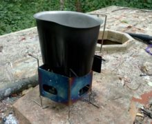 Firebox with cup