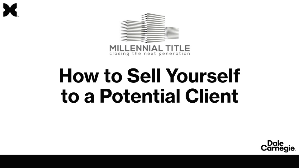 How to Sell Yourself millennial title louisville
