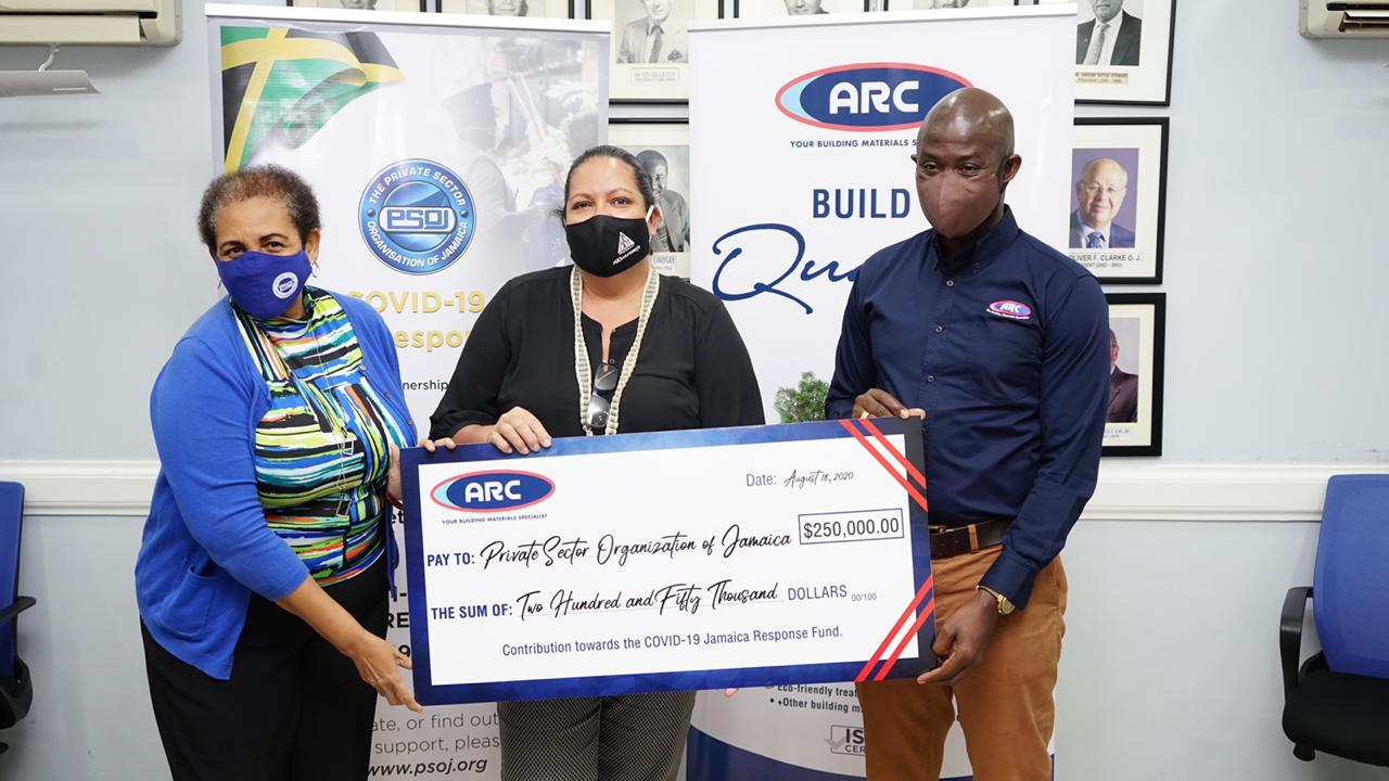 ARC Makes a Substantial Donation to PSOJ's COVID-19 Response Fund
