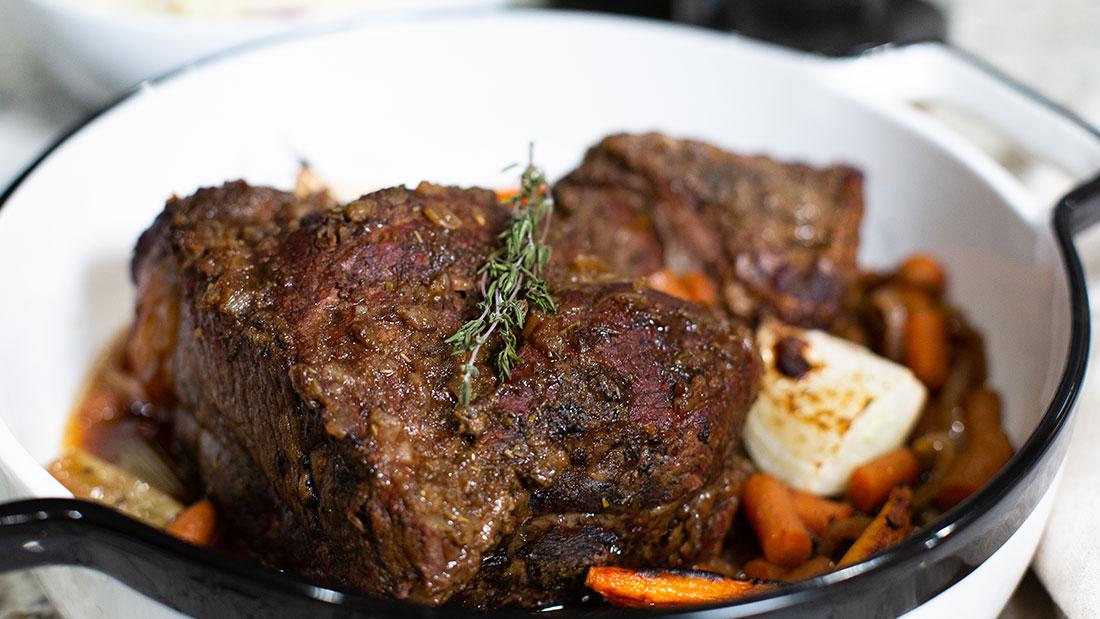 bowl of crock pot pot roast