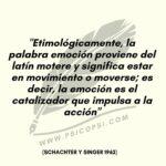 Etimología de la palabra Emoción