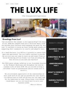 The Lux Life May June 2020