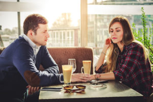 couple in strained relationship
