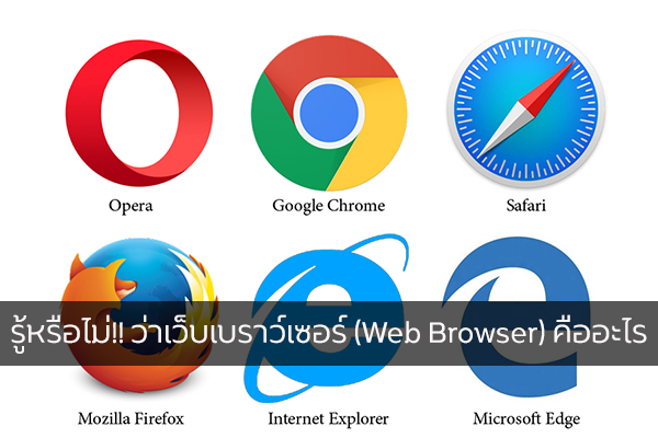 รู้หรือไม่!! ว่าเว็บเบราว์เซอร์ (Web Browser) คืออะไร วงการไอที โปรแกรมใหม่ WebBrowserคืออะไร