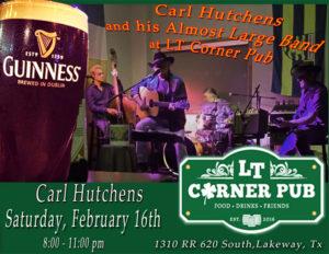 Live Music - Carl Hutchens Band @ LT Corner Pub   Lakeway   Texas   United States