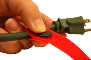 Cord-Lox nylon hook and loop straps with rivets