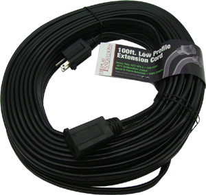 SPT-3 12/3 with ground 100' low profile flat extension cord