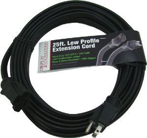 SPT-3 12/3 with ground 25' low profile flat extension cord