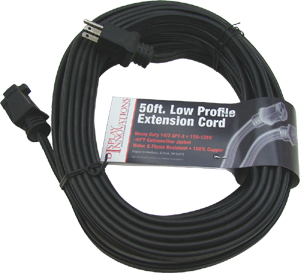 SPT-3 14/3 with ground 50' low profile flat extension cord