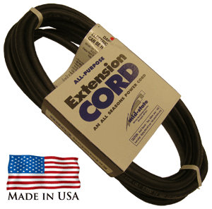 J3 extension cord 14/3 15' Made in USA