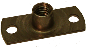 T-Nut, 1/4-20 with mounting holes