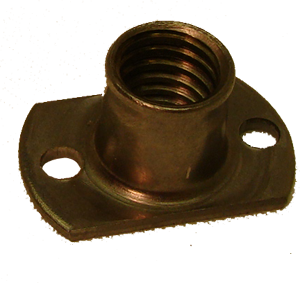 T-Nut, 3/8-16 with mounting holes
