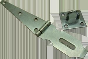 Strap hinge hasp and staple, standard duty, Ultra Brand