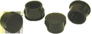 Hole plugs, black plastic