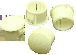 Hole plugs, white plastic