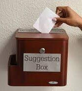 student feedback suggestion box