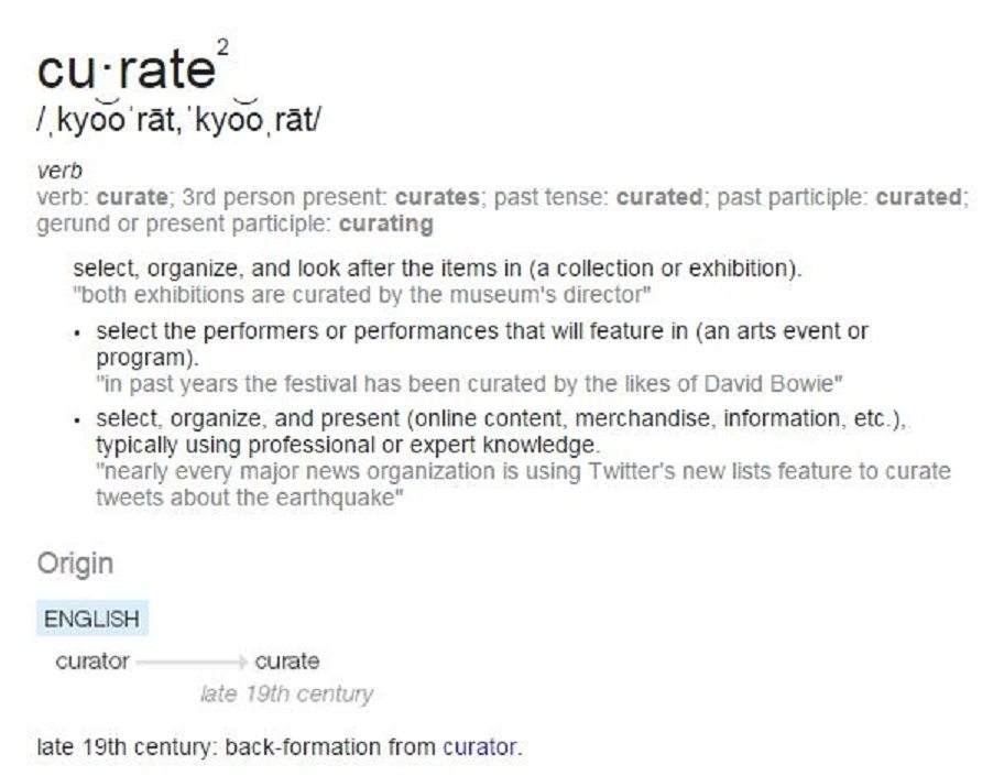 Curate Definition