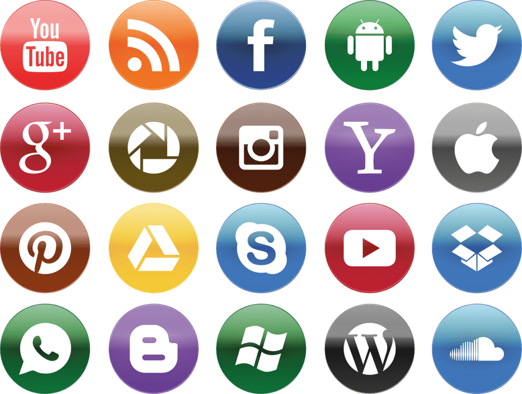 Common Social Media Icons