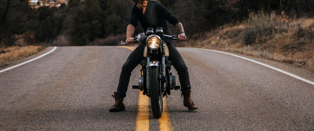 motorcycle on open road