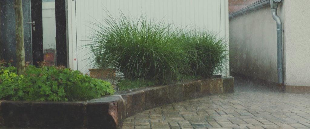wet condo in the rain