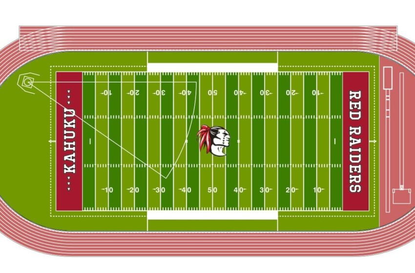 Kahuku Red Raiders Will Finally Get A Brand-New Artificial Turf Football Field
