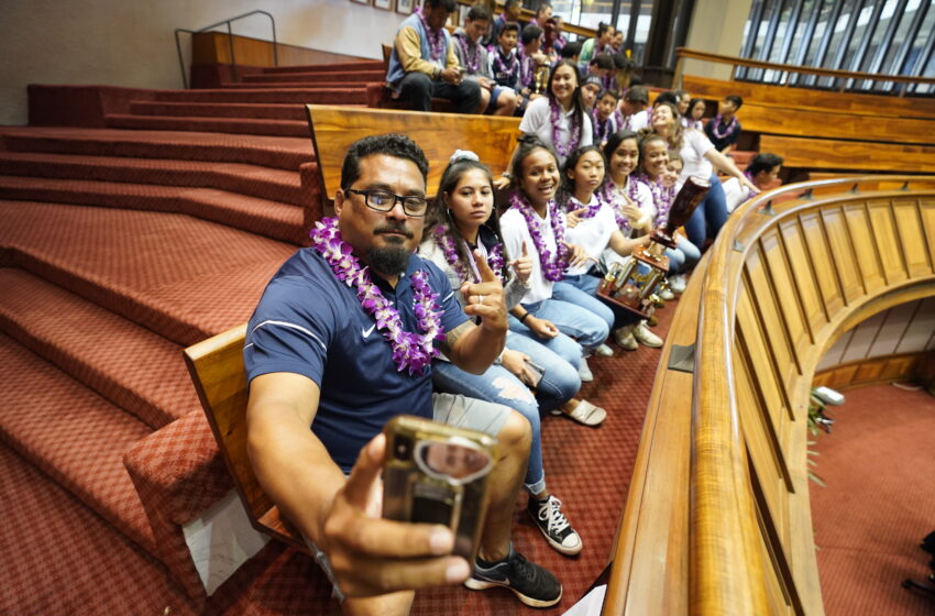 One Part Of Kamehameha Wrestling Coach Rob Hesia's New Job Is Students' WELL-BEING