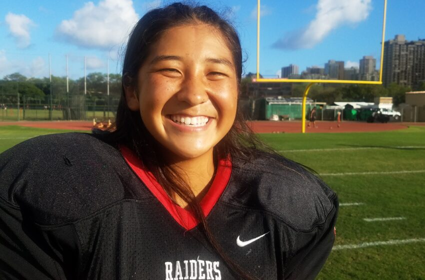 Allison Chang Is On The Leading Edge Of A New Wave Of 'Iolani Female Place-Kickers