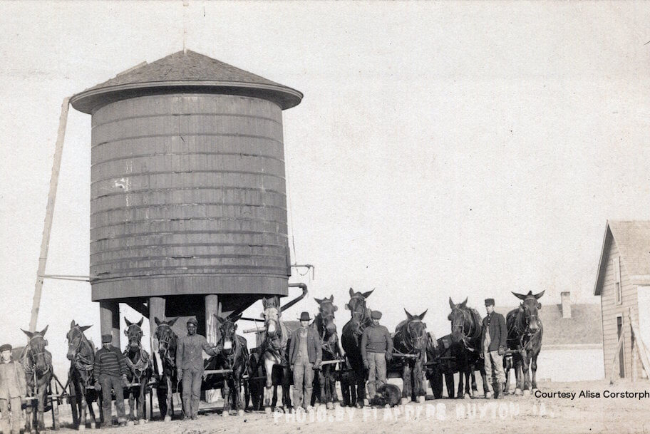 CCC Miners and workers with workhorses