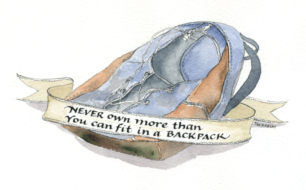 Backpack Sketchbook Janet Takahashi