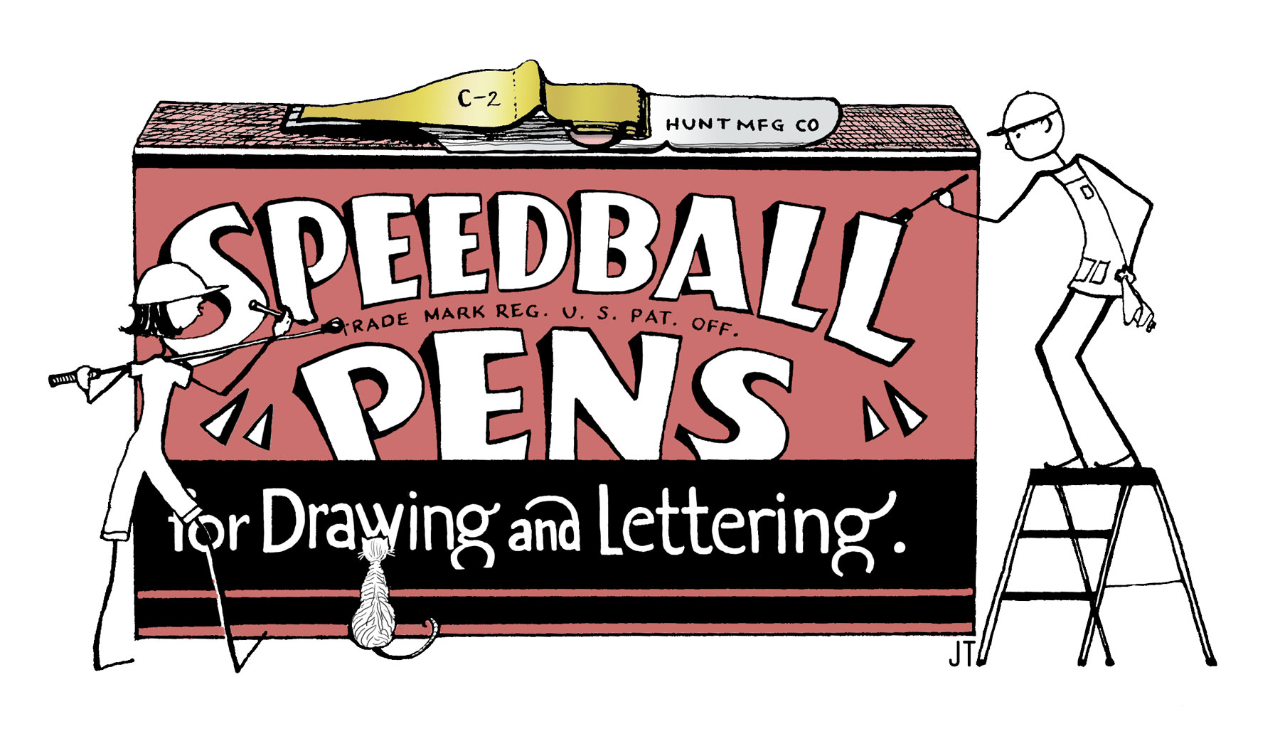 Speedball Pen Box by Janet Takahashi