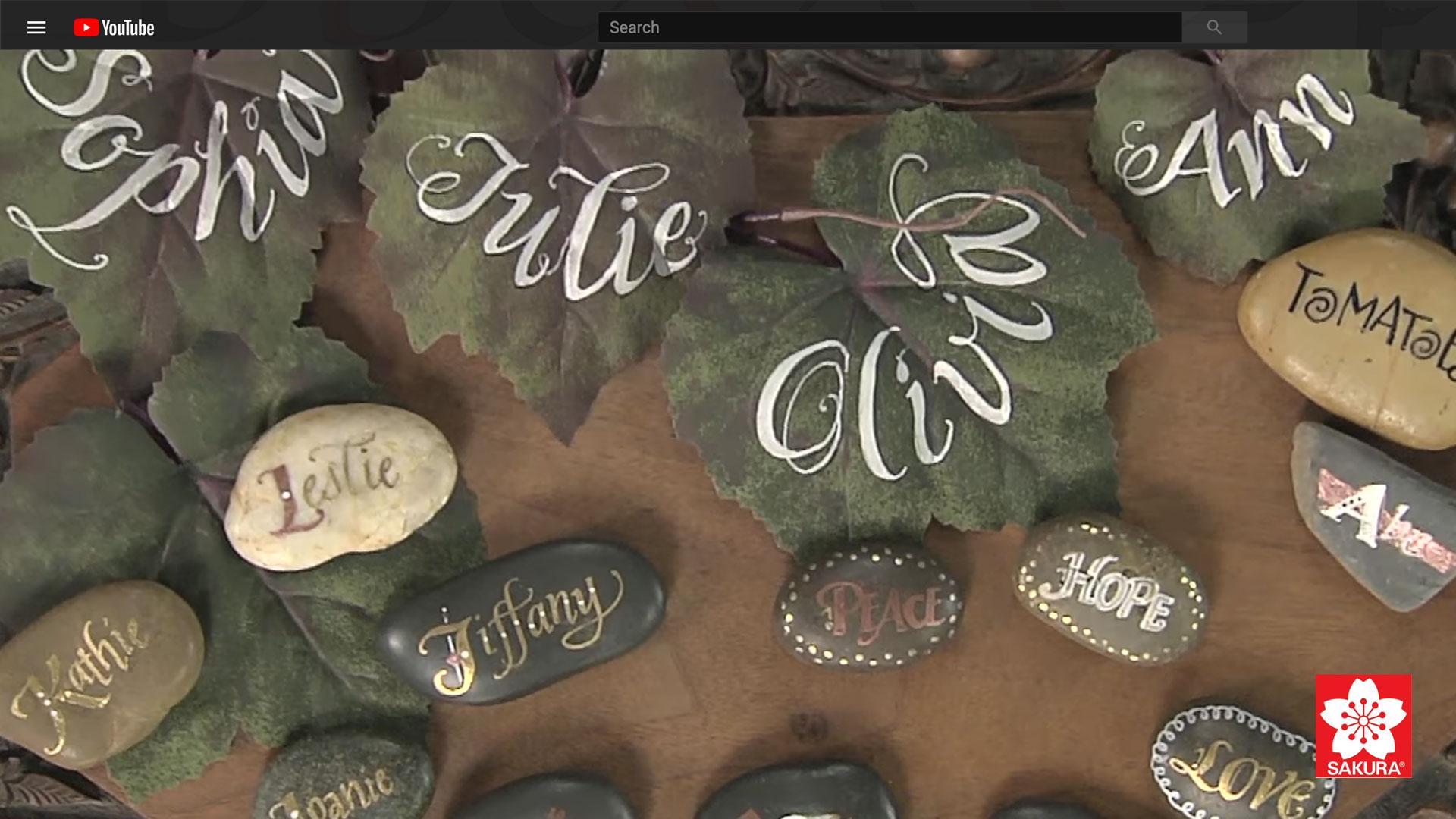 Customized Decorative Rocks with by Janet Takahashi