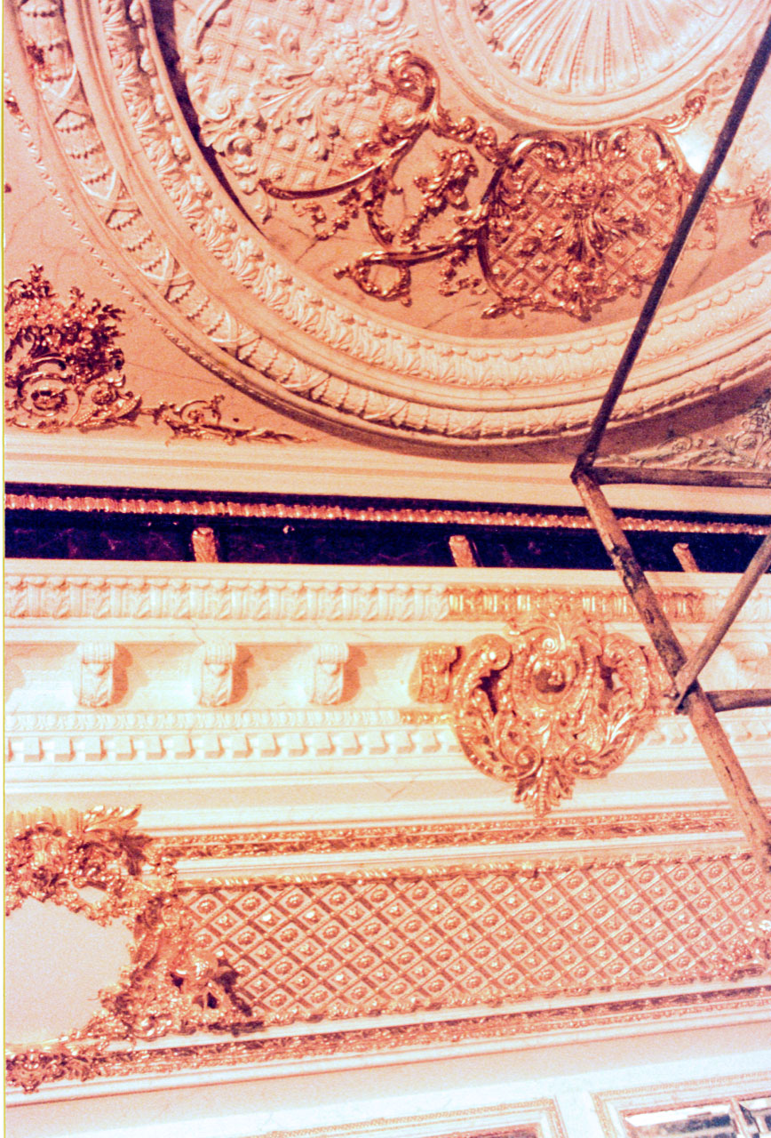 Gilded Ceiling in process by Janet Takahashi