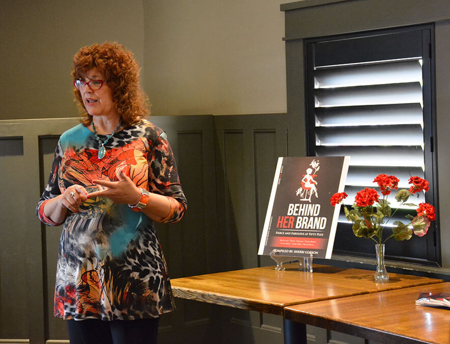 Speaking at book launch