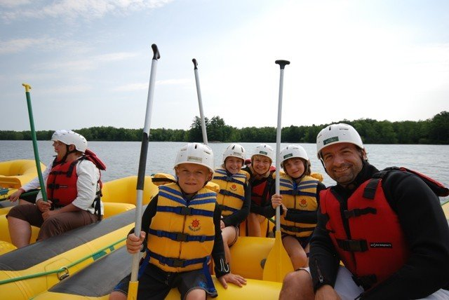 Gentle Family Rafting on the Ottawa River