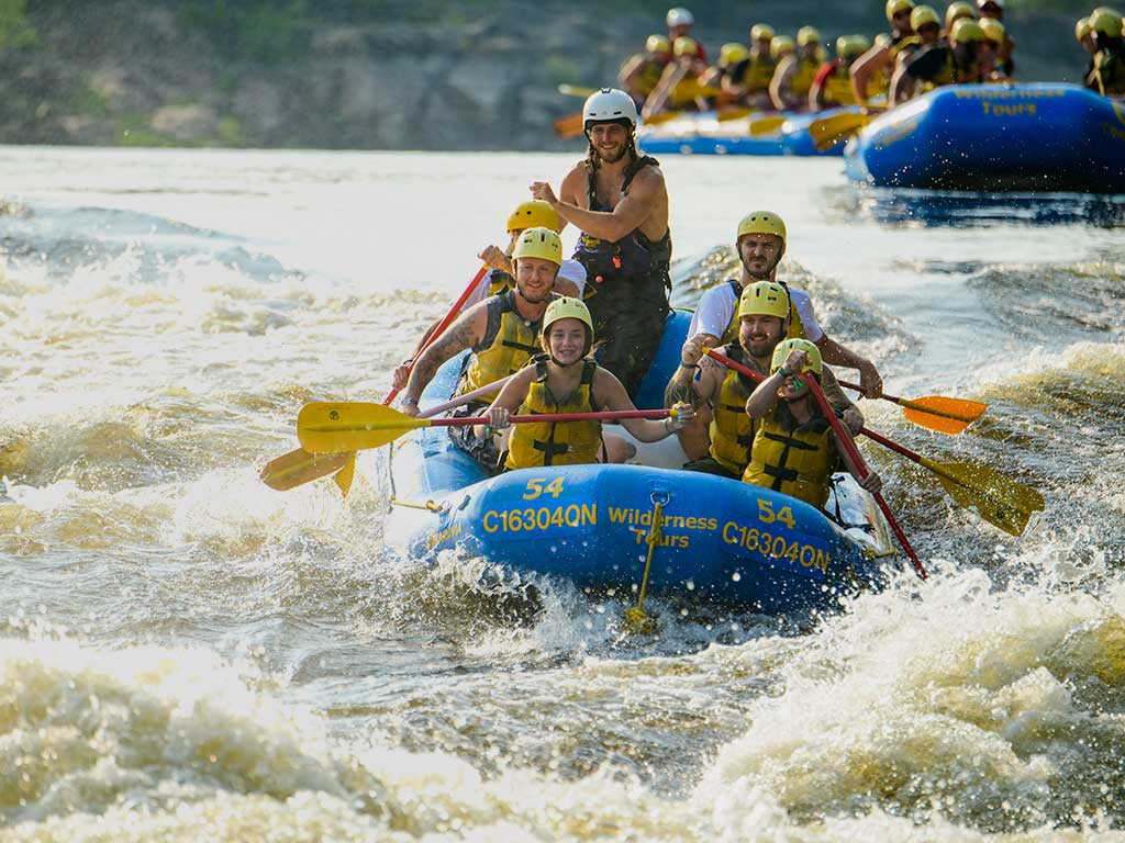 Sport rafting with wilderness tours ontario canada