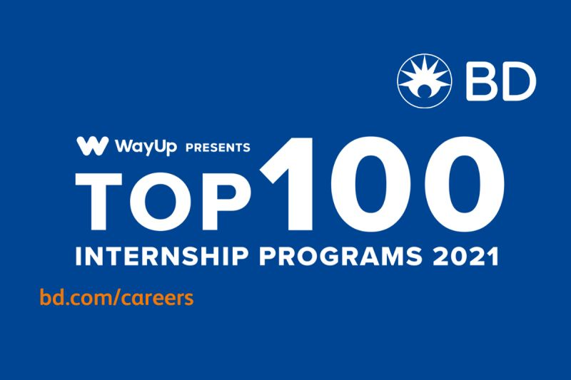 BD has been recognized for having one of the 100 best internship programs